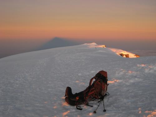 Backpack on the Summit of Kilimanjaro