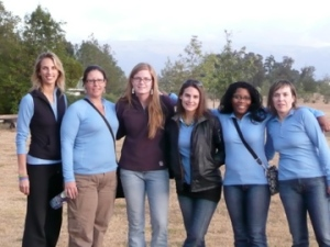 Rachel, Yvette, Leah, Mara, Toni, & Gretchen at Nanyuki Sports Club (Day before climb)
